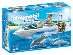 6981 Playmobil Equipo de buceo con lancha
