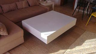 Mesa de centro de madera, rectangular, blanca