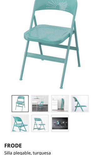 Dos sillas plegables 1 año de uso ikea