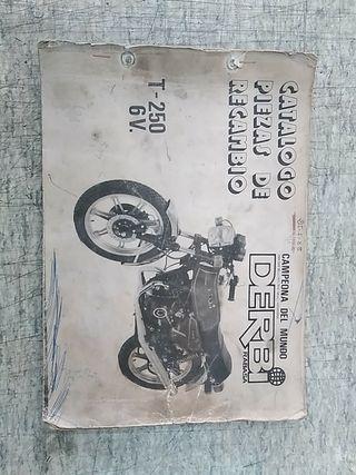 Catalogo de Recambio Derbi T250 6V