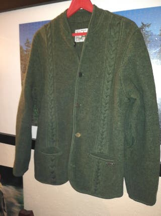 Austriaca Pura lana verde talla 16