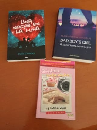 novelas juveniles(10€ las 3)