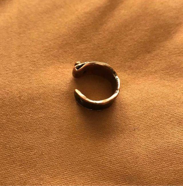asos men black leather ring