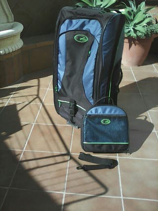 Bolsa de viaje de equipo de buceo. Tres piezas