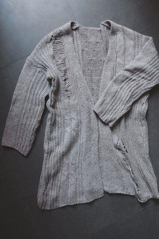 Cardigan oversize de lana holgado, talla L
