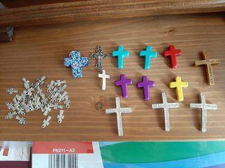 Lote de cruces para hacer bisutería