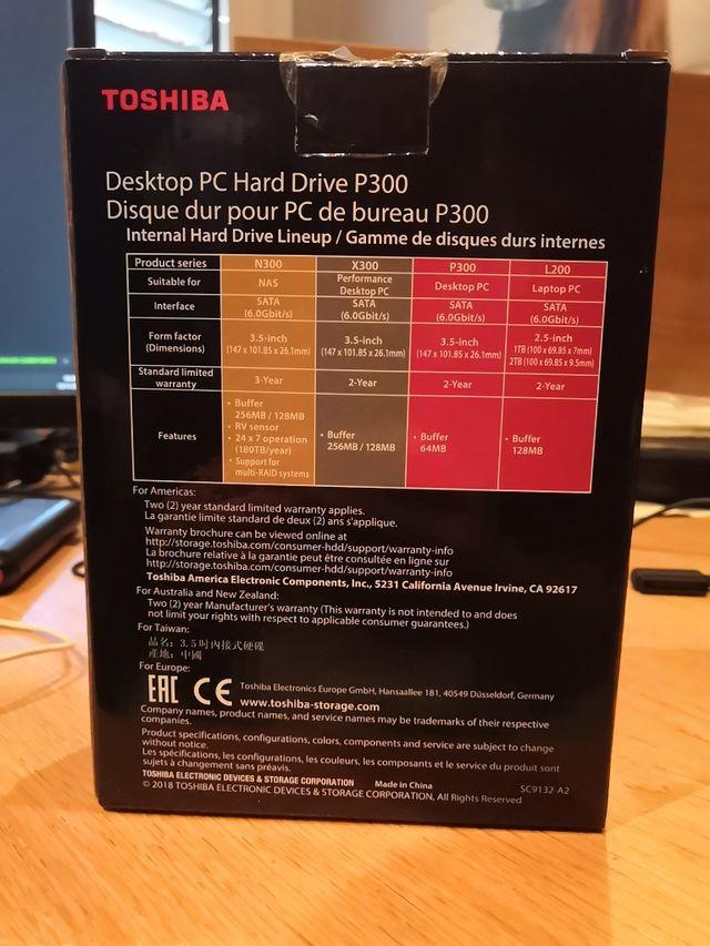 Disco duro interno Toshiba P300 1TB