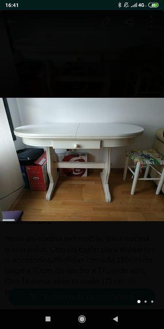 Mesa de cocina/comedor extensible