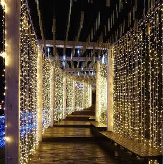 Cortina de luces LED 3x3m interior exterior