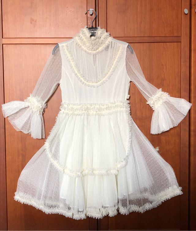 XS (34/36) Vestido plumeti fiesta