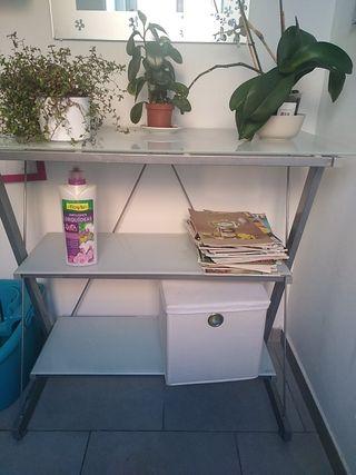 estanteria, balda, mueble auxiliar de cristal