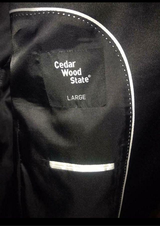 Black Cedar Wood state Blazer. Size L