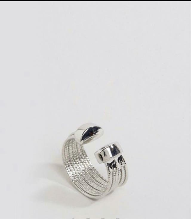 DesignB Chunky Layered Ring
