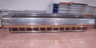 mostrador neutro acero inox 4.60m