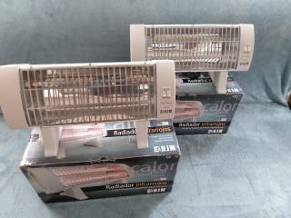 2 Radiadores de 2 resistencias infrarrojos.