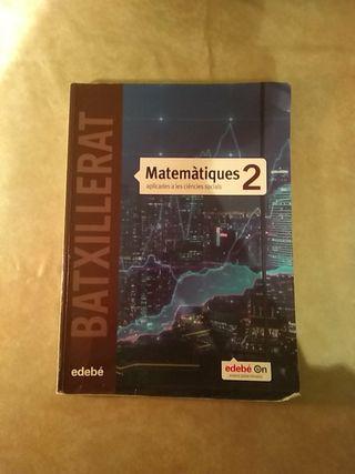 Libro Matemáticas Sociales Edebé Segundo Bachiller