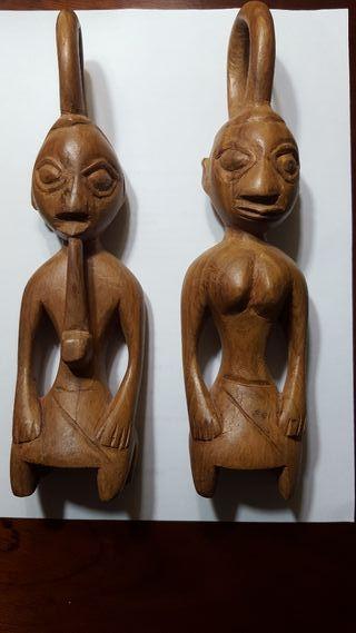 Pareja de madera de arte africano