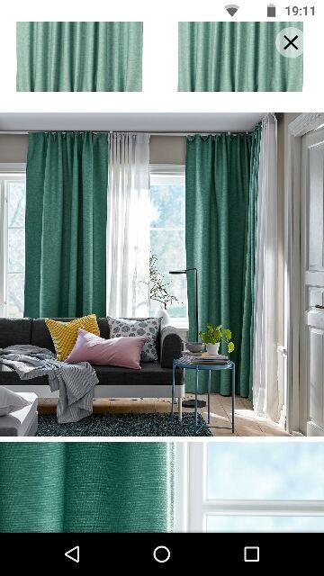 4 cortinas Felicia Ikea