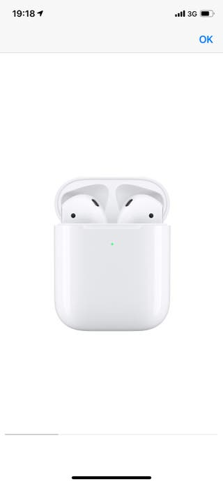 Apple AirPods con estuche carga inalambrica