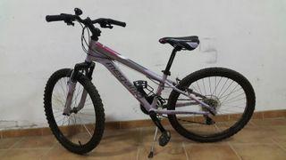Bicicleta MTB chica talla 24