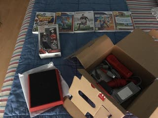 Wii mini con juegos