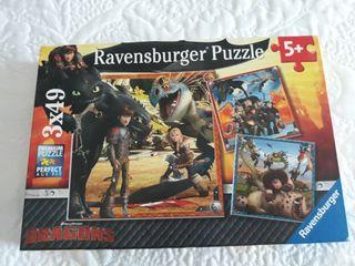 Puzzle Dragons 3 puzzles de 49 piezas cada uno 5+