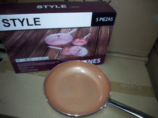 Sartén color cobre 5 piezas