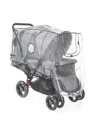 Protector para la lluvia para silla de paseo doble