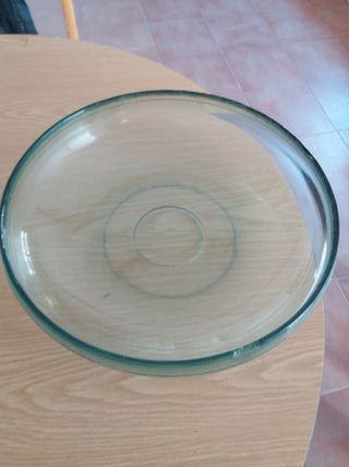 Plato centro mesa cristal grande