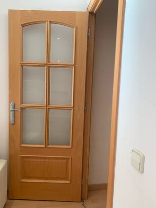 Puertas madera (6) y 1 con cristales y sus marcos