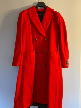 #Abrigo #de#paño#rojo#