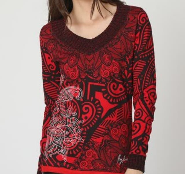 Suéter marca koröshi rojo A ESTRENAR talla S