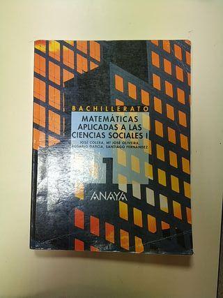 Libro de matemáticas 1 bachillerato.