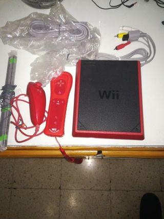 Wii Mini Roja + mando + joistik