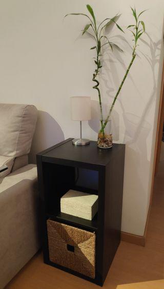 Mueble Ikea con Caja de Mimbre