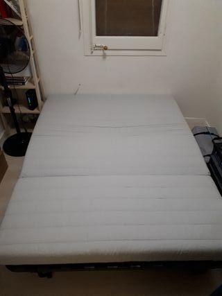 sofa cama Ikea 150 x 200. con funda
