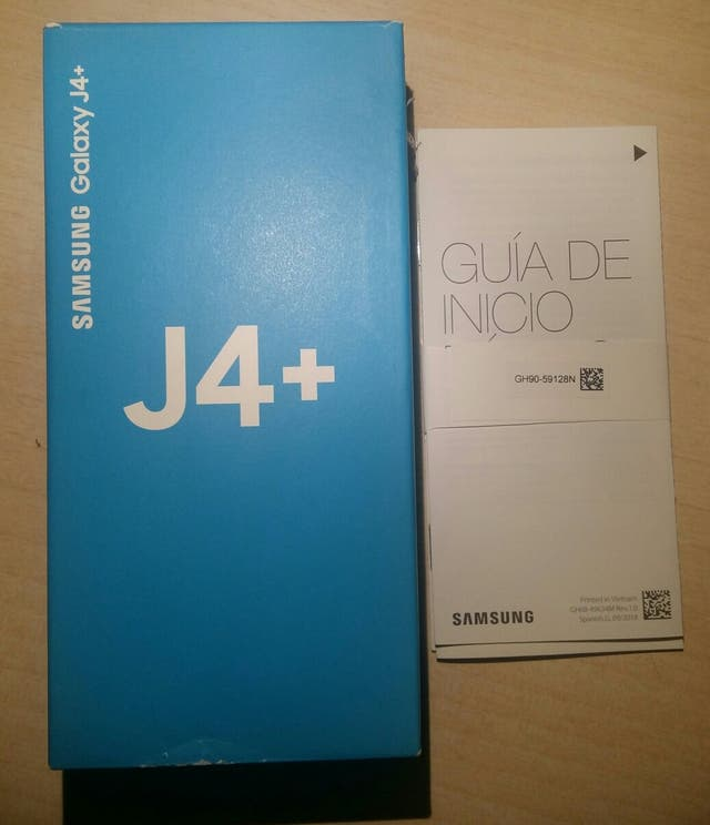 Caja Samsung Galaxy J4+