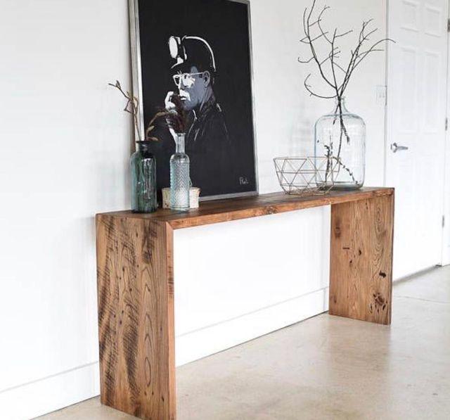 Mueble entrada consola recibidor madera palets
