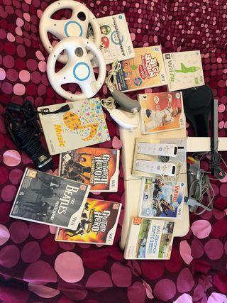 Wii con juego y accesorios