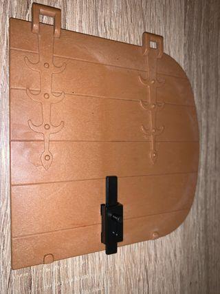 Playmobil puerta grande steck pestañas rotas