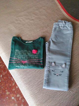 Conjunto pantalón y camiseta 5-6 años