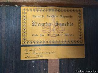 Guitarra Ricardo Sanchís.