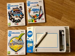 Wii udraw game Tablet + 3 juegos