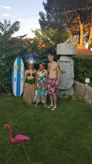 Escultura gigante Moais Isla de Pascua