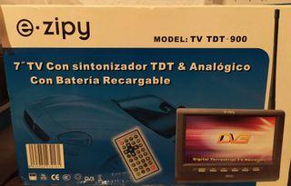 """ezipy TDT pantalla 7"""" con batería recargable"""