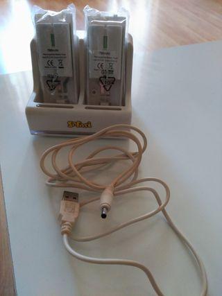 Cargador y 2 baterías WII