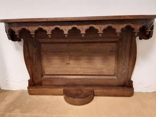 ANTIGUO . mueble consola de madera de roble