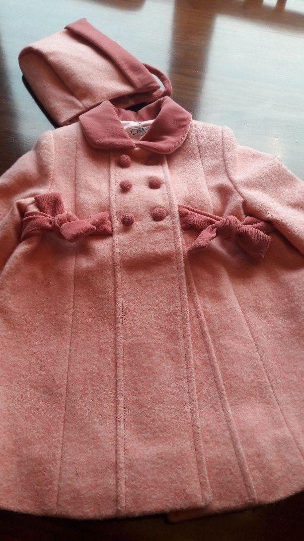Abrigos con capota de niña T-12 / 18 meses