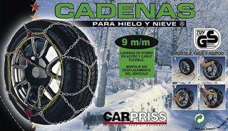 Cadenas de Hielo y Nieve CARPRISS KNS80 NUEVAS!!