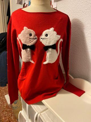 Jersey rojo de gatitos